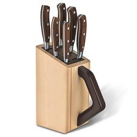 Фото Набор кованых ножей Victorinox Forged Сhefs Grand Maitre Wood Cutlery Block 6 шт. 7.7240.6